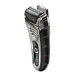 Wahl Smart Shave Rechargeable lithium ion wet / dry water proof foil shaver for men. Smartshave technology for shaving, trimming, and wet or dry shave with precision ground trimmer blade #7061-900  Image