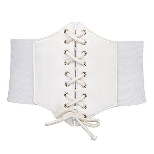 Vintage Retro Corset Waist Belt Cincher Plus Size(3XL,White 499)
