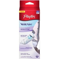 Playtex Ventaire Advanced 9 oz Bottle, With Medium Flow Nipple EACH (Pack of 3)