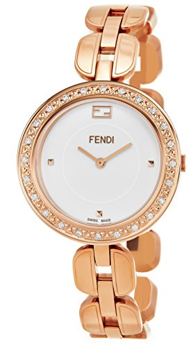 417uauMkcwL Brushed and polished Rose gold-tone plated case (36 mm in diameter, 8 mm thick), Screw-in case-back, Diamond bezel White lacquered dial, Rose gold-tone hands and hour markers, Scratch resistant sapphire crystal, Swiss quartz movement