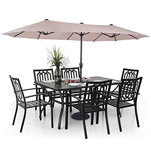 Sophia-William-Patio-Dining-Set-with-13ft-Double-Sided-Patio-Umbrella-8-Piece-Outdoor-Table-Furniture-Set-6-x-Metal-Outdoor-Chairs-1-x-Metal-Rectangle-Dining-Table-and-1-Large-Beige-Umbrella