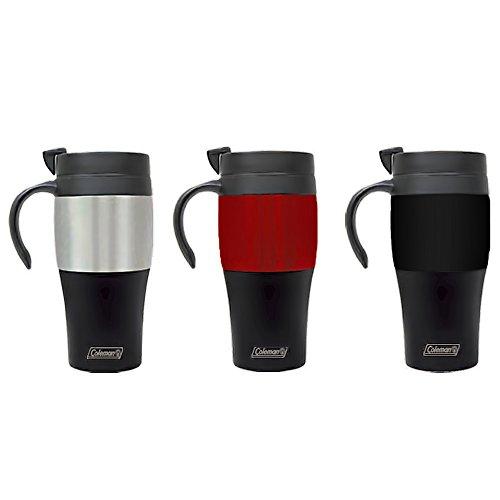Coleman C02M160 M-16160 14Oz Plastic Travel Mug 14-Ounce Assorted Colors
