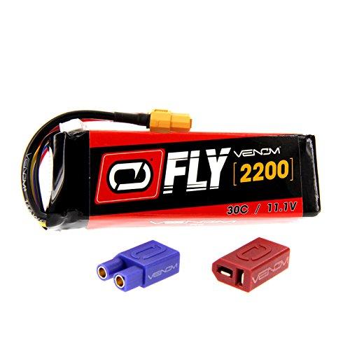 Venom Racing 25077 Fly 30C 3S 2200mAh 11.1V Lipo Battery with Universal 2.0 Plug