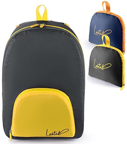 Lahtak Travel backpack - Foldable daypack - Knapsack for women - Outdoor foldable travel backpack - Waterproof nylon foldable daypack - Dependable urban daypack - Urban backpack