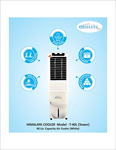41809qV2vOL - Himalaya Coolers Personal Room Air Cooler with Silent Fan and Honeycomb Pads (40 L Capacity, White)