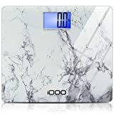 iDOO Precision Digital Bathroom Scale 440 Pound Capacity, Ultra Wide Heavy-duty Platform with Elegant Marble Design