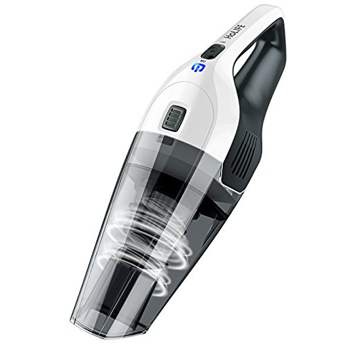 Holife Handheld Vacuum Portable Car Vacuum Cleaner Lightweight Hand Vac with 4Kpa Suction, Rechargeable 2200mAh Lithium Battery, Multifunctional Attachments, HEPA Filter (Grey)