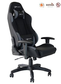 Ewin Gaming Chair With Adjustable Armrest And Backrest High-back Ergonomic Computer Chair , Leather Swivel Executive Office Chair