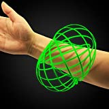 Digital Energy Glowing Kinetic Educational Spring Toy -Glow in The Dark Multi Sensory Interactive 3D Shaped Flow Ring, (Glow Green).