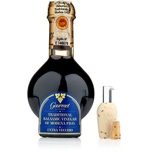 Traditional Balsamic Vinegar Aged 25 Year Old   100 ml Barrel-aged PDO Certified Extravecchio Balsamico from Modena, Italy