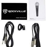 4-Rockville-Dynamic-Podcasting-Podcast-MicrophonesStandsPop-FiltersCables