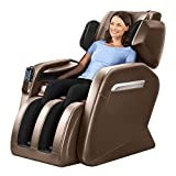 Massage Chair Zero Gravity Full Body Shiatsu Luxurious Electric Massage Chair Recliner with Stretched Mode Heating Back and Foot Rollers Massage Therapy (Coffee)