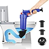 Bert Toilet Plunger, Air Drain Blaster, Pressure Pump Cleaner, High Pressure Plunger Opener Cleaner Pump Bath Toilets, Bathroom, Shower, Kitchen Clogged Pipe Bathtub (Blue2018)
