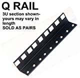 10U steel server rack rail with 3/8' square holes, 2U-45U, (Q10U) esacrs