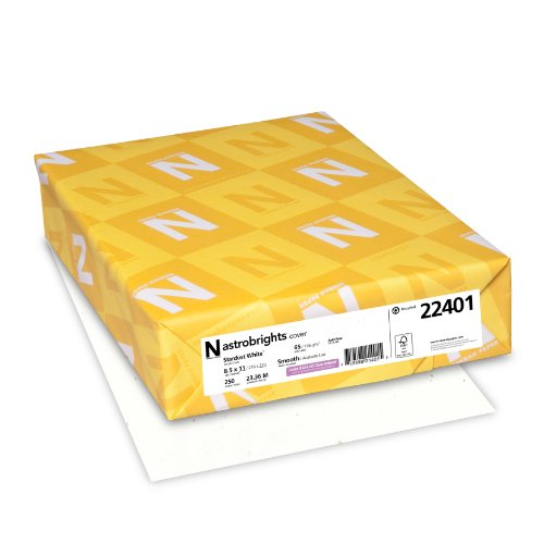 Neenah Astrobrights Premium Color Card Stock, 65 lb, 8.5 x 11 Inches, 250 Sheets, Stardust White