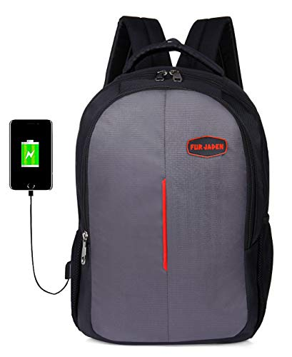 418MnX54FpL - Fur Jaden 15.6 Inch Laptop Backpack 25 LTR Bag for School, College and Office with USB Charging Port
