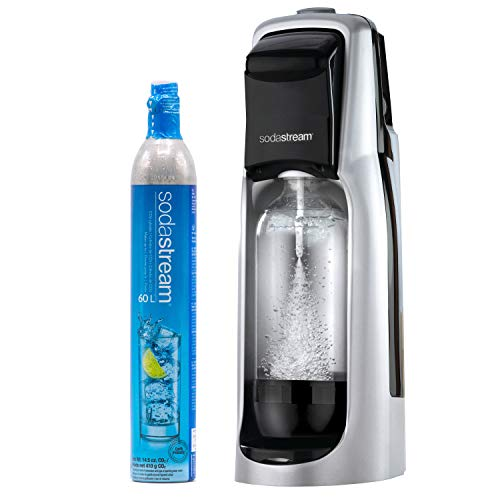 SodaStream Jet Sparkling Water Machine (Silver), with CO2 and BPA free Bottle