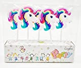 CharmTM Set of 5 Unicorn Birthday Candles Kids Party Decorations