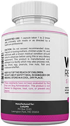 Water Retention Pills for Women Bloating Relief with Vitamin B6, Dandelion & Green Tea Natural Diuretic for Water Draining, Bloating & Swelling Detox Capsules - 60 Caps - by LadyMe 6