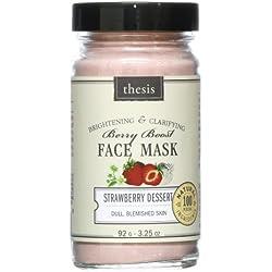 Organic & Natural Facial Mask - Smoothing Hydrating Brightening - Strawberry Dessert