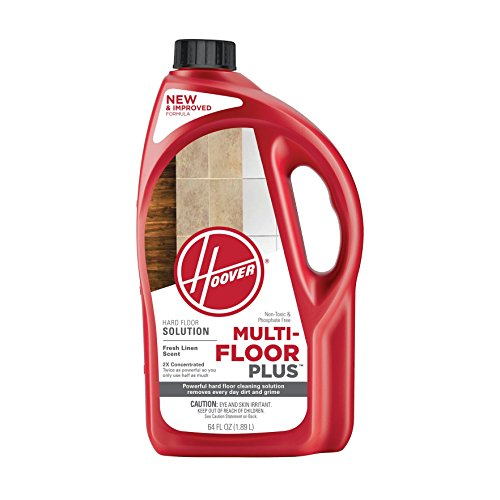 Hoover Multi-Floor Plus Hard Floor Cleaner Solution Formula, 64 oz, AH30420NF, Red