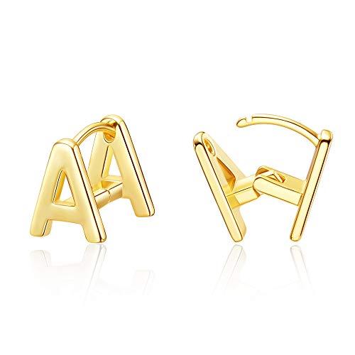 Initial Stud Earrings for Women