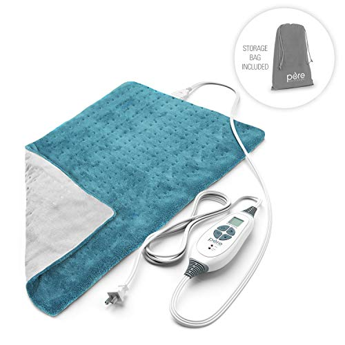 Pure Enrichment PureRelief XL King Size Heating Pad (Turquoise Blue) - Fast-Heating...