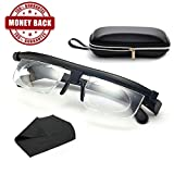 Instant 20/20 Adjustable Glasses - High Quality Unisex Adjustable Eyewear Instant 20/20 Vision 4 Once Non Prescription Lenses Reading Driving Eyeglasses