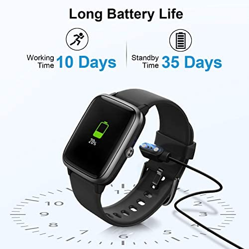 Anbes Health and Fitness Smartwatch with Heart Rate Monitor, Smart Watch for Home Fitness Tracking, Yoga, Exercise Bike, Treadmill Running, Compatible with iPhone and Android Phones for Women Men 8