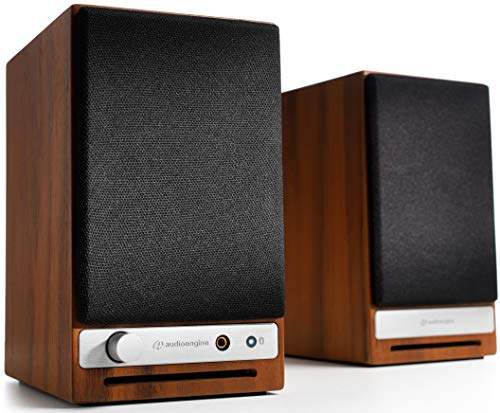 Audioengine HD3 60W Wireless Powered Desktop Speakers, Bluetooth aptX HD, USB 24-Bit DAC & Analog Amplifier (Walnut)