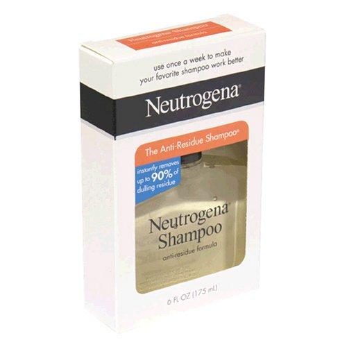Neutrogena Shampoo, Anti-Residue Formula, 6 fl oz (175 ml) (Pack of 3)