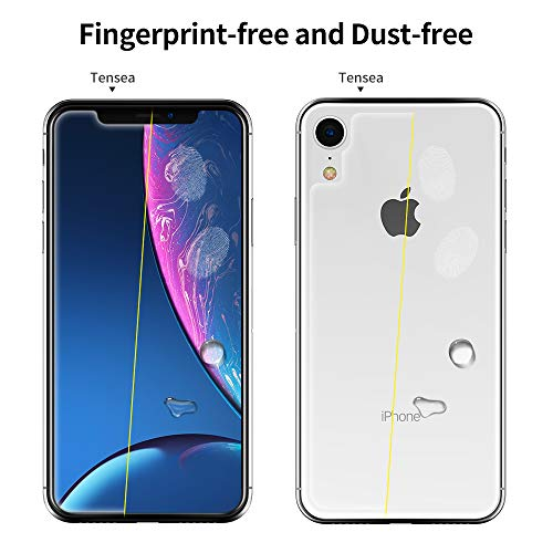 Tensea-Screen-Protector-for-Apple-iPhone-XR-61-inch-Front-and-Back-Tempered-Glass-Firm-Anti-Scratch-Anti-Fingerprint-Case-Friendly-HD-Clear-2-Pack-Front-2pcs
