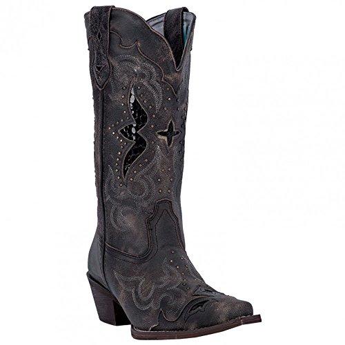 Laredo Women's 13' Lucretia Boot Dark Black/Tan 7.5 W