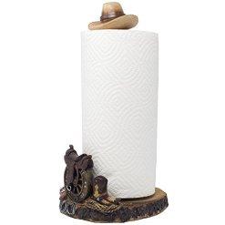 Cowboy Hat Saddle Paper Towel Holder