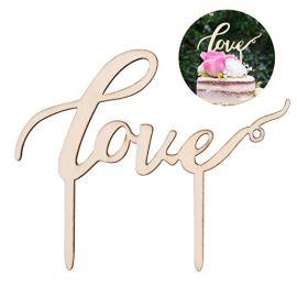 Topper per Torte Love di Legno