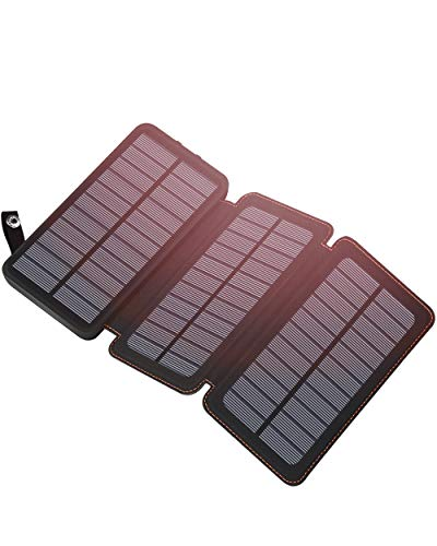 Hiluckey Solar Charger 24000mAh Outdoor Portable Charger External Battery Pack Waterproof Power Bank for iPhone, iPad, Samsung Galaxy, Android and Other Smart Devices