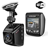 Dash Cam WiFi Car Dash Camera HD 1080P Hidden Car Driving Recorder with SD 170° Wide Angle, Car DVR, WDR, Motion Detection, Loop Recording,G-Sensor