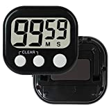 3 Pack Kitchen Timer shower Digital Magnetic Countdown Timer Switch With Buzzer Alarm for Cooking, Shower,kids,Teacher,or Indoor Activities, Backing Stand with Large LCD Display Black(3 pack)