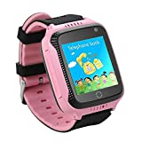 Dizzlle Boys Girls Kids Smart GPS Watch Phone for iOS Android Smartphone with Touchscreen GPS Tracker Camera SOS Pedometer (Orange)