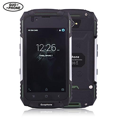 Guophone V88 Waterproof SmartPhone MT6580 Quad Core Android 5.1 4.0Inch IPS QHD 1GB RAM 8GB ROM 8MP GPS Dual Sim 3G Mobile Phone (Green)