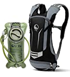 U`Be Hydration Backpack Water Pack for Hiking and Biking - Running Bag Camel Pack with 2L Bladder