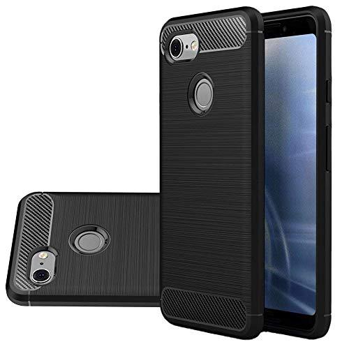 Pixel 3 Lite Case, Vinve [Slim Thin] Carbon Fiber TPU Shock Absorption Anti-Scratches Flexible Soft Protective Case Cover for Google Pixel 3 Lite (Black)
