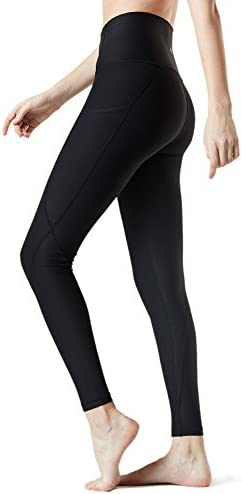 TSLA High Waist Yoga Pants with Pockets, Tummy Control Yoga Leggings, Non See-Through 4 Way Stretch Workout Running Tights 2