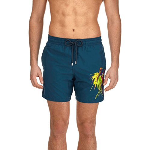 61rys7 jHkL Placed embroidered Swim Short The original from the 70s Elastic waistband, drawstring with Zamac tips, side pockets