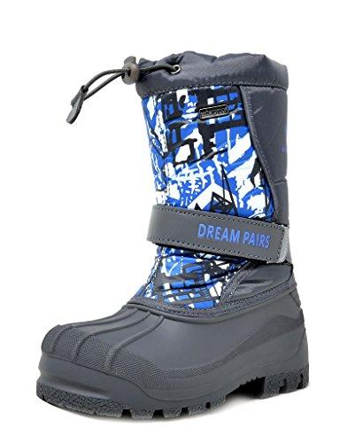 DREAM PAIRS Little Kid Kamick Navy Mid Calf Waterproof Winter Snow Boots Size 3 M US Little Kid