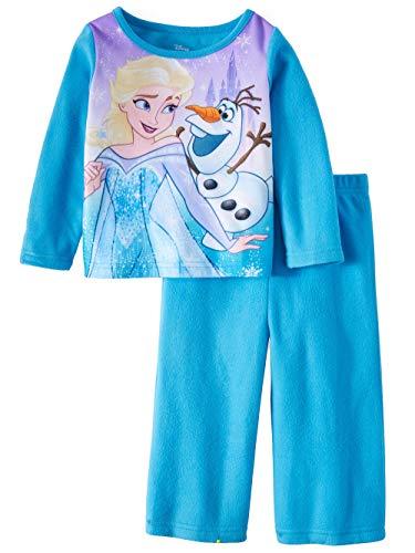AME Toddler Girls Blue Frozen Elsa & Olaf Brushed 2 pc Jersey Pajamas (3T)