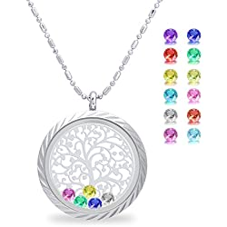 Family Tree of Life Floating Charm Living Memory Lockets