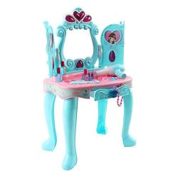 Alixyz Play Toys, Fantasy Vanity Beauty Dresser Table with Induction Function & Makeup Accessories for Girl Gifts