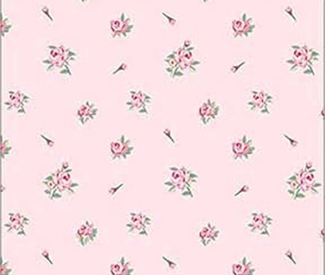 Amazon Com Dollhouse 112 Scale Wallpaper Daniella Floral Toss Pink No Border Toys Games