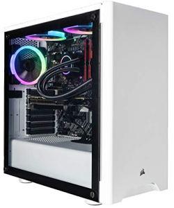 CUK Sentinel White Gaming PC (Liquid Cooled Intel i9-9900K, 32GB RAM, 1TB NVMe SSD+ 2TB HDD, NVIDIA GeForce RTX 2080 Ti 11GB, 750W Gold PSU, Windows 10) Best Tower Desktop Computer for Gamers